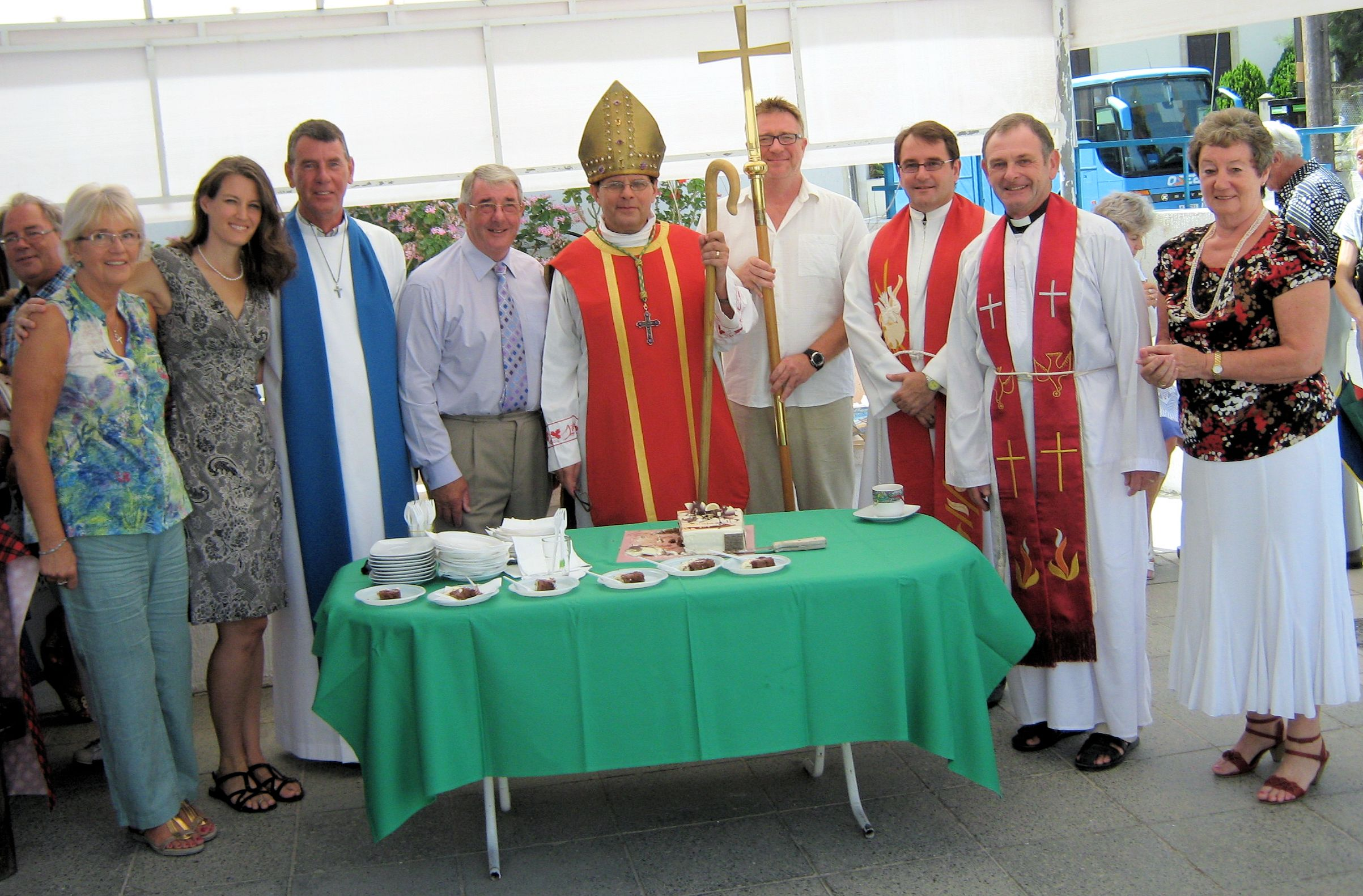 group with the Bishop