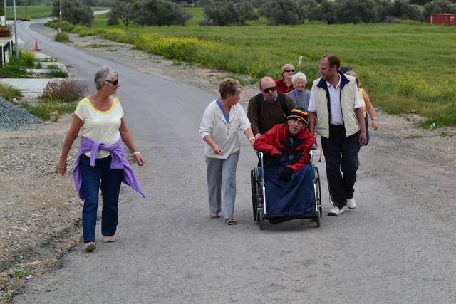 sponsored walk for St Helena's charity shop