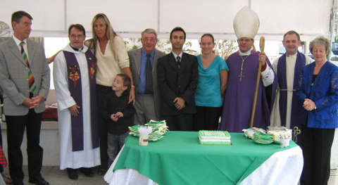 confirmation candiates with St Helena's staff